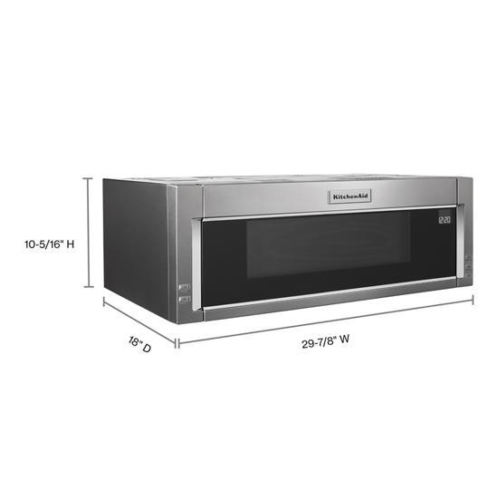 Kitchen Aid 1000-Watts Low Profile Microwave/ Micro-hood (Slim Finish)